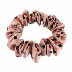 Шелковая резиночка для волос, узкая, принт  Polka Dot