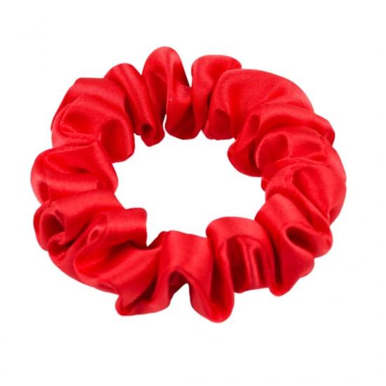 Шелковая резиночка для волос, узкая, Scarlet