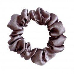 Шелковая резиночка для волос, узкая, цвет теплый тауп