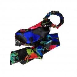 Шелковая резиночка Twilly, цветочный принт D&G