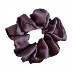 Шовкова резиночка для волосся, широка, Брауні