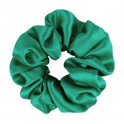 Wide Silk scrunchie, bright green