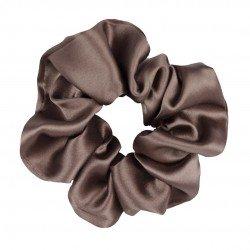 Шелковая резиночка для волос, широкая, Молочный шоколад