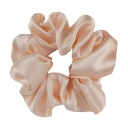 Шелковая резиночка для волос, широкая, Персиковая