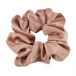 Шелковая резиночка для волос, широкая, Rose Beige