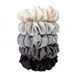 5 оттенков серого - набор из пяти узких шелковых резиночек