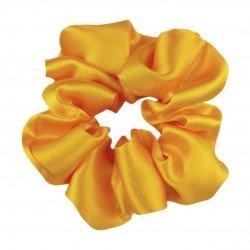 Шелковая резиночка для волос, широкая, Солнечный желтый