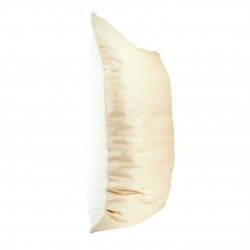Single Sided 50x70 Silk Beauty Pillowcase, Beige / White