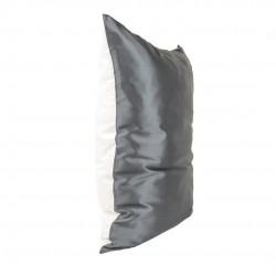 One-sided Silk Beauty Pillowcase 50x70, black / White