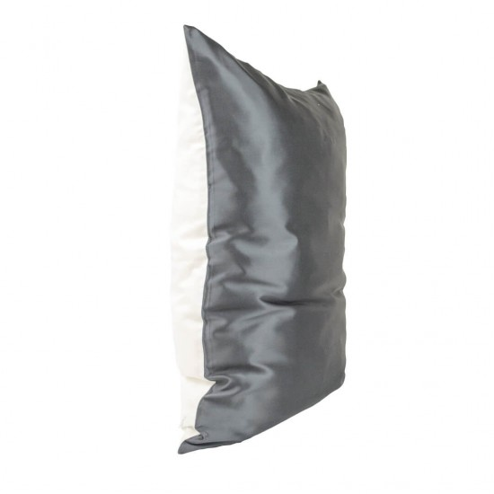 Одностороння шовкова б'юті-наволочка 50x70, Чорна / біла