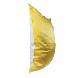 Single Sided 50x70 Silk Beauty Pillowcase, print yellow stripes  / White