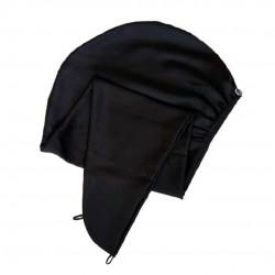 Шовковий тюрбан-рушник, чорний
