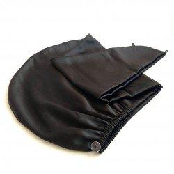 Silk Turban Towel, Black