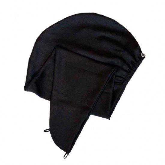 Шелковый тюрбан-полотенце, черный