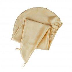 Silk Turban Towel, Gold