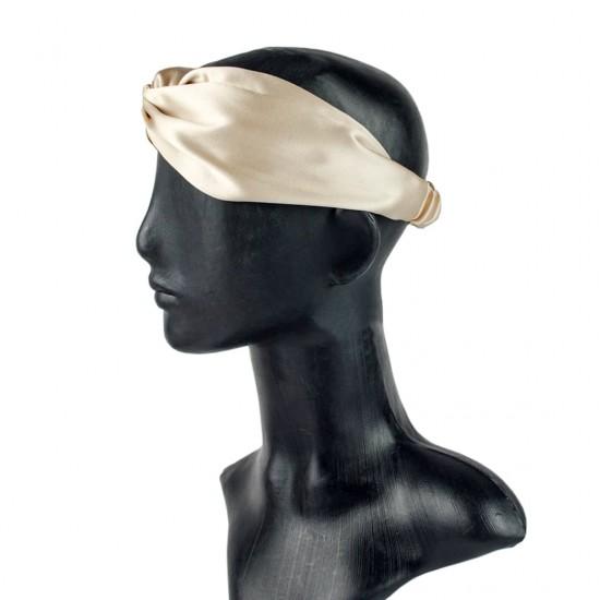 Silk headbands, Beige