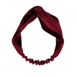 Silk headbands, burgundy