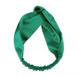 Шовкова пов'язка для волосся, Яскраво-зелена
