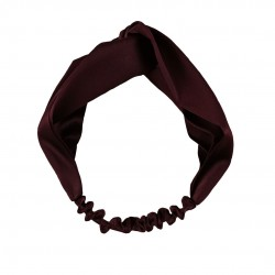 Шелковая повязка для волос в цвете Вишня в шоколаде
