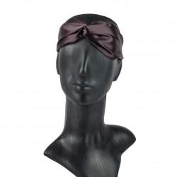 Шелковая повязка для волос в цвете Горький шоколад