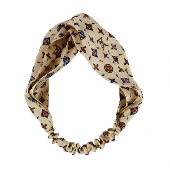 Silk headbands, print LV-Lily