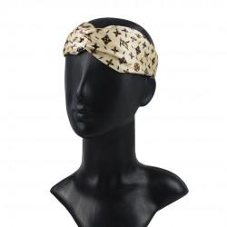 Шелковая повязка для волос, принт LV-Lily