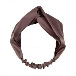 Шелковая повязка для волос, в цвете Молочный шоколад
