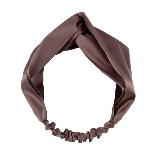 Silk headbands, milk chocolate