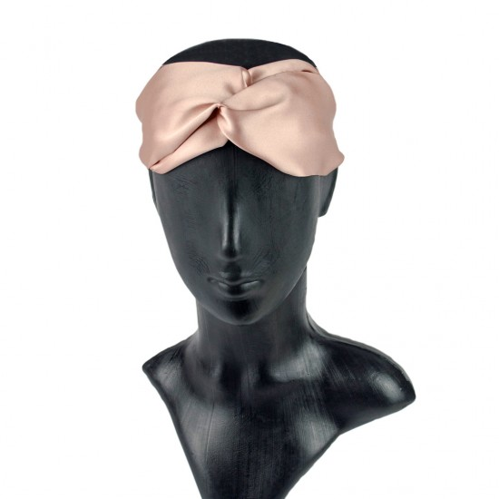 Silk headbands, Rose Beige
