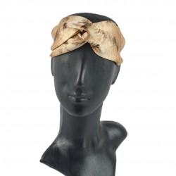 Шелковая повязка для волос, принт Дикая кошка