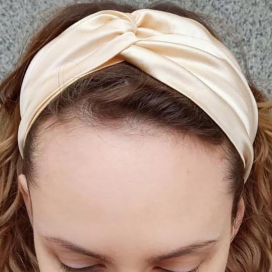 Silk headbands, bright green