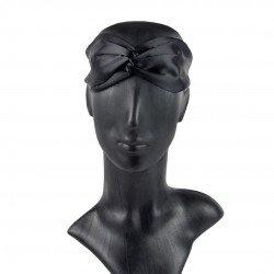 Шелковая повязка для волос в черном цвете