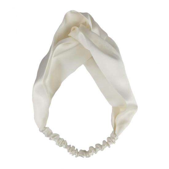 Шелковая повязка для волос, Молочный