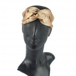 Шовкова пов'язка для волосся, принт Дика киця