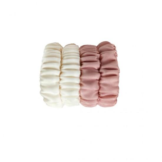 Набор детских шелковых резиночек для волос, Скинни, Молочный, Rose Beige