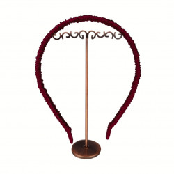 Silk headband for hair, Bordo