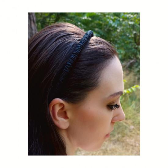Silk headband for hair, Black