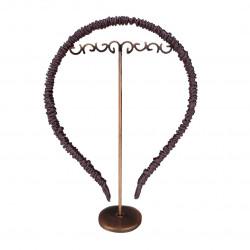 Шелковый обруч (ободок) для волос, Брауни