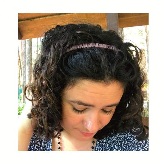 Silk headband for hair, Brownie