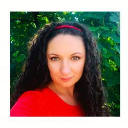 Шелковый обруч (ободок) для волос, Красный
