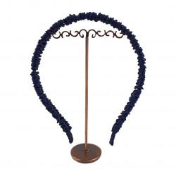 Шелковый обруч (ободок) для волос, Космический синий