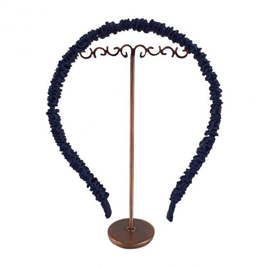 Silk headband for hair, Space blue