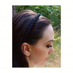 Шелковый обруч (ободок) для волос, Чёрный