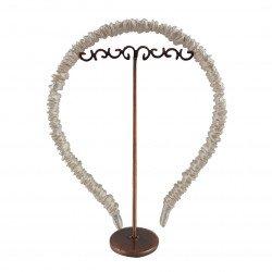 Шелковый обруч (ободок) для волос, Молочный