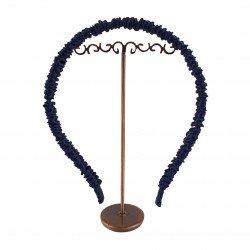 Шовковий обруч (ободок) для волосся, Космічний синій