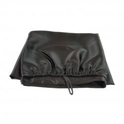 Шовковий рушник-тюрбан 60x100 см, в чорному кольорі