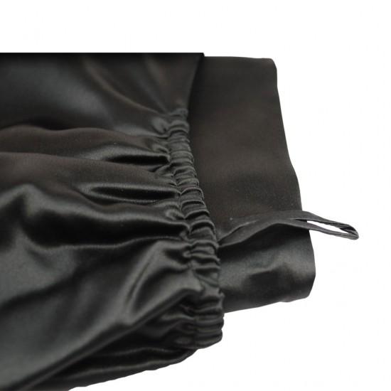 Шелковое полотенце-тюрбан 60x100 см, в черном цвете