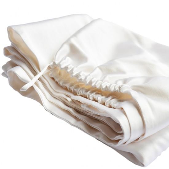 Шовковий рушник-тюрбан 60x100 см, в молочному кольорі