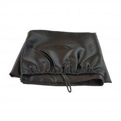 Silk turban towel 60x100 cm, black