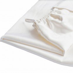 Silk turban towel 60x100 cm, milky